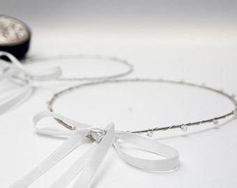 STEFANA Wedding Crowns - Orthodox Stefana - Bridal Crowns CRYSTAL - One Pair