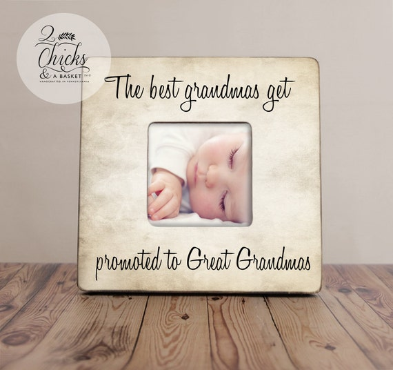 the best grandmas get promoted to great grandmas personalized picture frame parent gift new