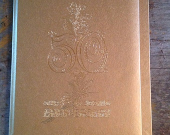 Vintage 50th Wedding Anniversary Album Book