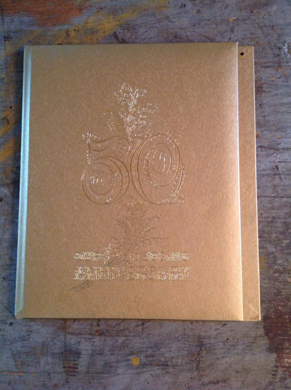 Vintage 50th Wedding Anniversary Album Book