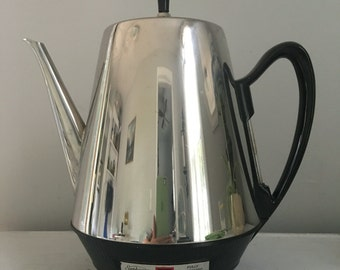 Vintage Sunbeam Automatic Perculator Coffee Pot, vintage coffee pot