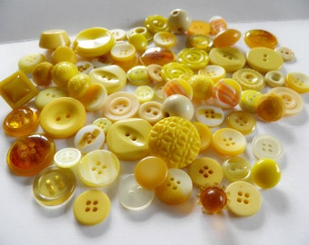 Lot of Yellow Buttons