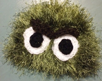 Crocheted OSCAR the Grouch hat photography prop