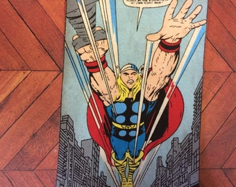 Large Thor comic book style fabric iron on applique