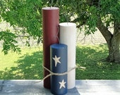 Americana Wood Firecrackers Patriotic Centerpiece Primitive Home Decor July 4th Decoration