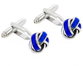 Enamel Blue Knot Cufflinks 1200522