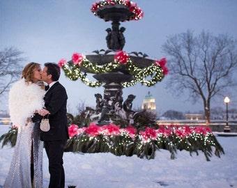 CUSTOM ORDER - Handmade Chandelle Feather Bridal Shrug Winter Wedding Cape