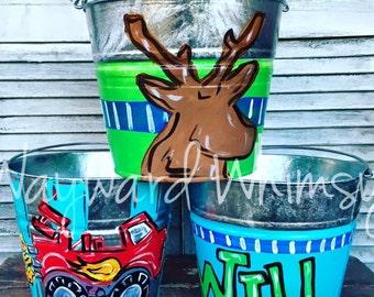 Personalized galvanized bucket Pails
