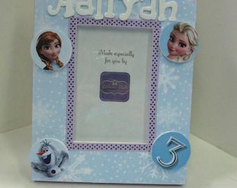 Frozen Theme Personalized Frame