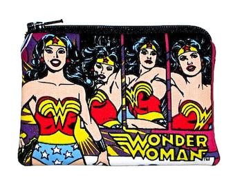 Wonder Woman Super Hero Coin Purse Small Zipper Pouch