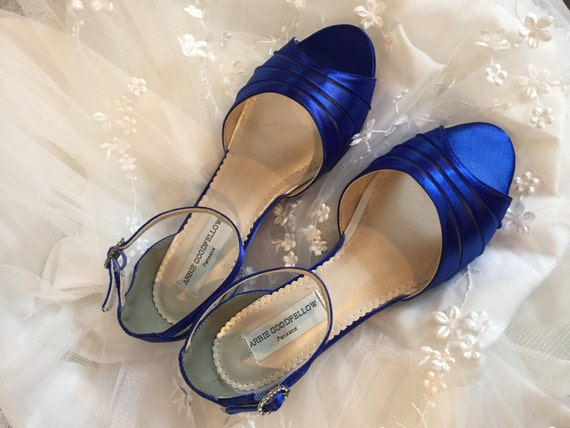 Wedge Heel Shoes For Wedding: Royal Blue Wedge Royal Blue Wedding Shoes Wedge Wedding