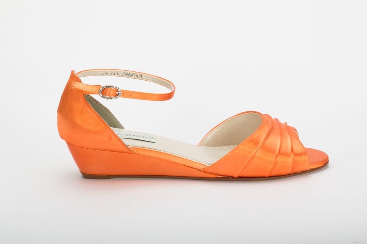 Orange Wedding Shoe Wedding Shoes Orange Wedge Wedding