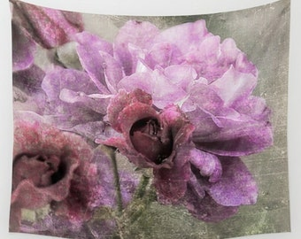 Wall Tapestry Wall Hanging Wall Art Dusty Pink Rose
