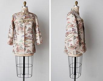 1950s brocade coat / mandarin jacket / 50s asian brocade / Imperial City jacket
