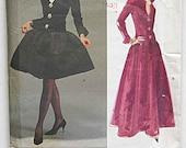 Vintage 90's Givenchy Misses' Dress in 2 Lengths, Evening Gown, Vogue 2583 Sewing Pattern, Paris Original UNCUT Sizes 6-8-10