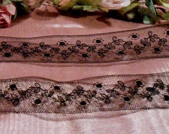 Antique Lace Vintage Lace Trim Bolt Black Edwardian Lace Craft Supply