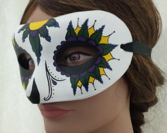 Hand Painted Mardi Gras Paper Mache Mask
