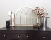 Vintage Inspired Original Arch Window Wood Frame