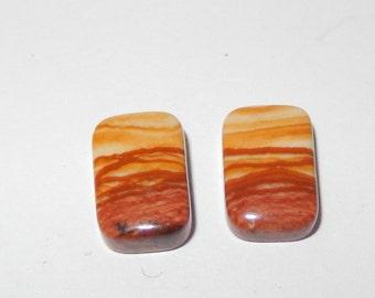 Jasper Cabochons - small pair