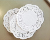 20 French Lace Paper Doilies 10cm / 4 inch - Baked Goods Wedding Craft Scrapbooking