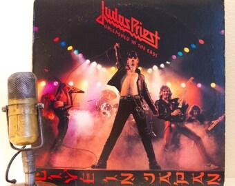 "ON SALE Judas Priest Vinyl Record Album 1970s Heavy Metal LP ""Unleashed in the East"" (Live in Japan / Studio - 1979 Cbs Records)"