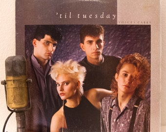 "ON SALE 1980s 'Til Tuesday (with Aimee Mann) Vinyl Record Album LP 1980s Mtv New Wave Pop Alternative Rock ""Voices Carry"" (1985 Cbs w/""Voice"