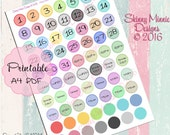 Planner date Stickers (Digital Download)