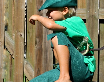 Peter pan or Robin hood  Children s Costume for Halloween sizes through 8 years old