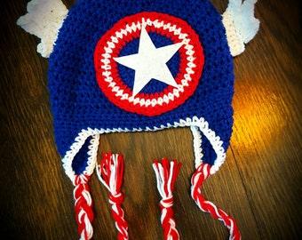 Captain America hat! Kids Avengers Captain America Hat! Baby Captain America Hat! Adult Captain America hat! Free shipping!