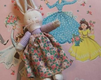 tiny vintage cloth bunny