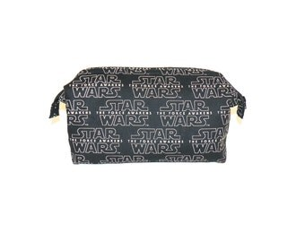 Super Sized Make-Up Bag in Star Wars The Force Awakens Fabric