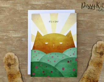 It's a Day - Pissy Kitty Card