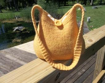11-1011  Handknitted felted wool purse,tote,handbag fs