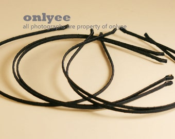 10PCS-3MM Handmade Metal Headband wrapped with Satin Ribbon 8Colors -NavyBlue (G110-NB)