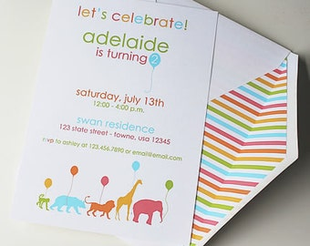 Animal Parade Invites