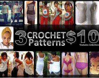 Crochet Pattern Deal - 3 for 10 - Pattern Deal - Crochet Pattern Collection - Crochet Deal - Crochet Sale - Crochet Pattern Sale - Guchet