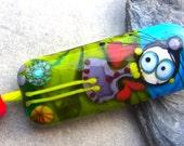 Little Fairy - Handmade Lampwork Bead Set (3) by Anne Schelling, SRA
