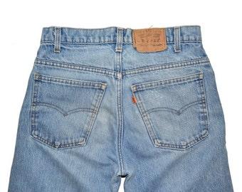 ON SALE Vintage Unisex 1984 LEVI'S Levis Straight Leg 519 Jeans Tag 31x36 Hemmed 31x31 Made In Usa Orange Tag
