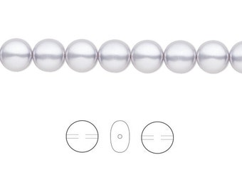 Swarovski Crystal Beads Coin Pearl 5860 Lavender 12mm Package of 10