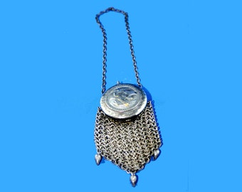 Victorian Coin Purse Metal Chain Link Mesh Wristlet Bag