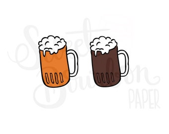 Beer // Hand-Drawn Planner Stickers