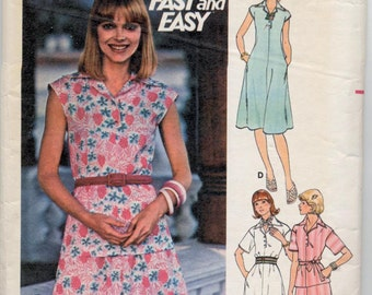Vintage Misses' Dress, Top, Skirt & Belt Sewing Pattern - Butterick 4743 - Size 12