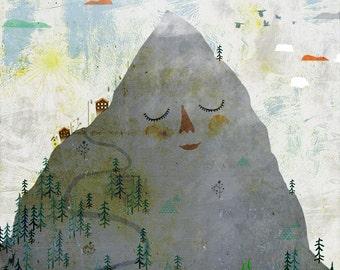 OUR MOUNTAIN art print // cute illustration // nursery decoration