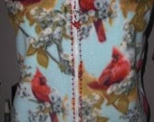 Cardinal fleece vest with bead trim, size 14-16