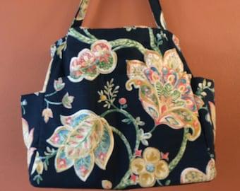 Tina1639E   Extra Large, Free Standing and Expanding Bag, Knitting Bag, Carry-On, Large Purse, Shoulder Bag, Huge Bag, Large Project Bag