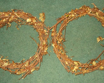 """15"""" Vine Wreath - Set of 2 - Natural Handmade Cottage Chic Home Decor FREE SHIPPING!!!"""