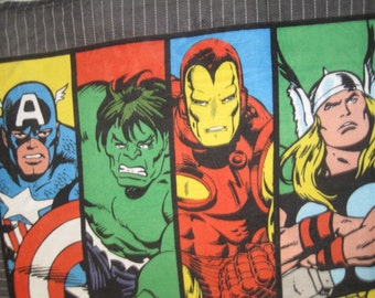 Captain America, Thor, Ironman, and The Hulk with Black Blanket - Ready to Ship Now