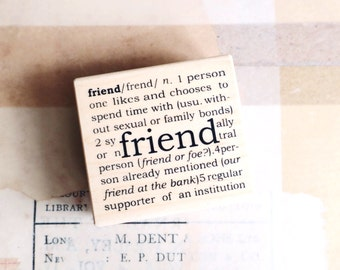 FRIEND rubber stamp