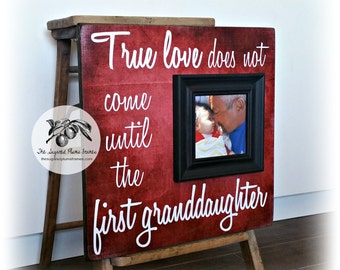 Christmas Gift For Grandpa, New Grandpa Gift, First Grandchild Gift For Grandparents, New Papa Gift, Picture Frame, 16x16 The Sugared Plums