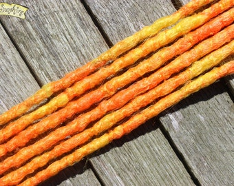 Orange and Yellow SE x6 Crochet Synthetic Dreads